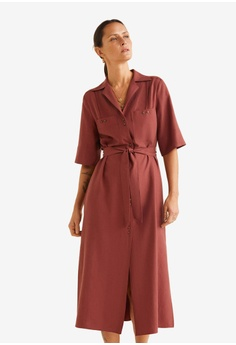 2e2a35b77c9cd0 MANGO red Soft Shirt Dress 6DDFFAAF67DDADGS 1