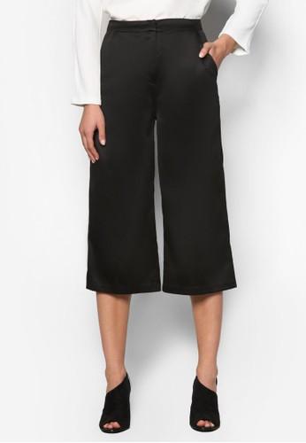 Premium 綢緞寬管五分褲、 服飾、 長褲及內搭褲ZALORAPremium綢緞寬管五分褲最新折價