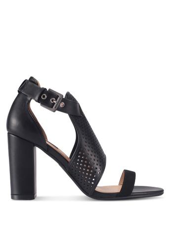 ZALORA black Cut-Out Detail High Strap Heels 21ABASH56753C5GS_1