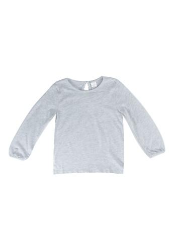 LC Waikiki grey Baby Girl's Basic Cotton T-shirt BFACBKA9958C54GS_1
