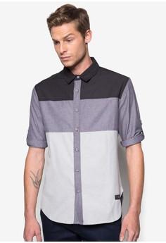 Color Block 3?4 Sleeve Shirt