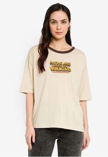 niko and ... beige Printed T-Shirt DA8EBAAE652B27GS_1