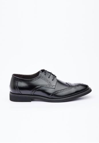 Kings Collection black Buchanan Leather Shoes 520D5SHD76B3B0GS_1