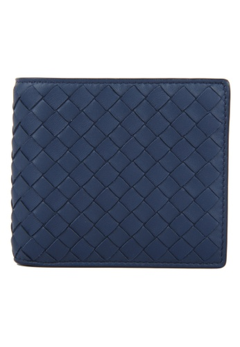 Balenciaga blue Balenciaga Intrecciato Bi-Fold Wallet in Dark Blue for UNISEX 58F17AC0F4BD02GS_1