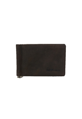 EXTREME brown Extreme Genuine Leather RFID Money Clip Wallet Brown 6EDF2ACF7E2DBFGS_1