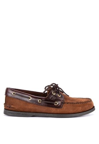 Sperry brown A/O 2-EYE Boat Shoes 0F99CSH4128100GS_1