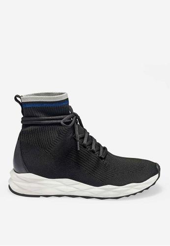 ASH black Spirit - Black Knit High-Top Sneakers C0069SH778434EGS_1
