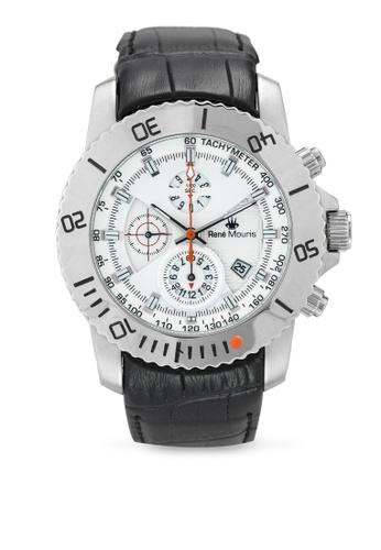 René Mouris black and multi L.I.F.L - 45.5mm Quartz Chrono Watch 30BBAAC421C4EFGS_1