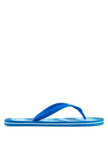 Hollister blue Pattern Rubber Flip Flops HO422SH57GKGMY_1