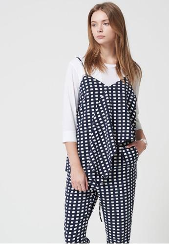 Lesprit專櫃OVE 印花層次連身長褲, 服飾, 迷你裙