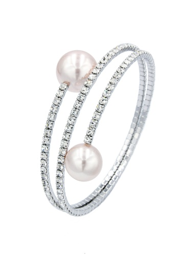 SO SEOUL pink and silver Quinn Pearl in Pink Spiral Spring Bangle D959EAC79D0570GS_1