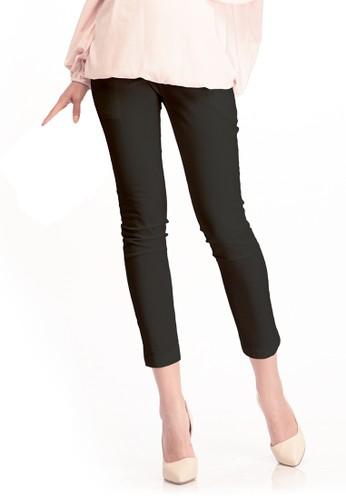 MOOIMOM black MOOIMOM Cropped Maternity Pants Celana Panjang Hamil - Black MO368AA0UGMLID_1