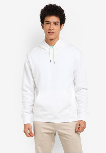 J.Crew white Garment Dye French Terry Hoody 89FFEAA35327DCGS_1