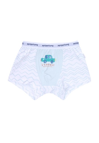 Chica Chico white and blue Vrooom Boy Underpants squre 65421KAB4024C4GS_1