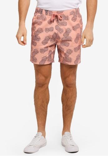 JAXON pink Pineapple Motif Easy Shorts 0BA8FAAC9CFA8EGS_1