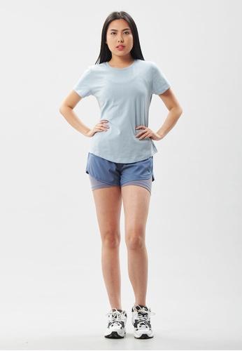 AVIVA blue AVIVA Ophelia Authentic Short Sleeve Top 2CBC1AA76947F1GS_1