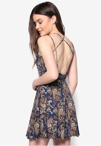 Love 背部交叉帶印花洋裝, 服zalora 折扣碼飾, 夏日洋裝