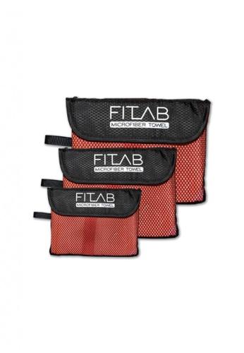 Fitlab red and orange Microfiber Towel Bundle 302DEHL84313D0GS_1