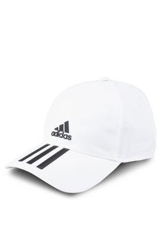 13b171a9040 adidas white adidas c40 3-stripes climalite cap 7BEF5AC1F6B698GS 1