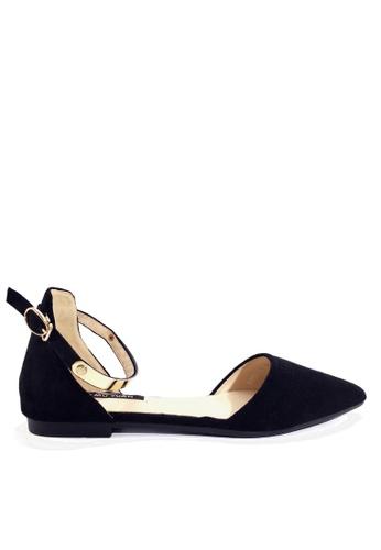 Twenty Eight Shoes 黑色 閃耀的踝帶尖頭小跟鞋 VL916814 E1E55SHB1FCAE4GS_1
