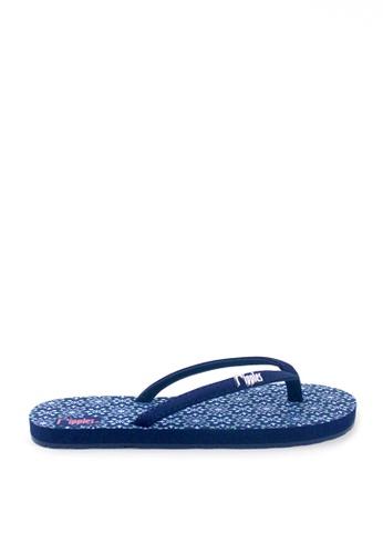 Ripples blue Nadia Flip Flops 3E2E4SH845CE70GS_1