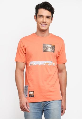 Topman orange Coral Ensign T-Shirt 3C704AA263B9ADGS_1