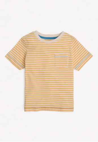 Gingersnaps yellow Boys Pocket Detail T-Shirt AF99BKACB556C8GS_1