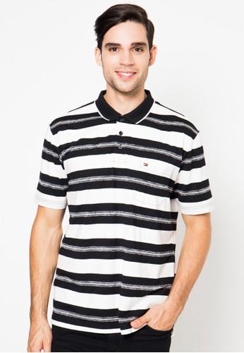 Stripe Regular Fit Short Sleeve Polo Shirt