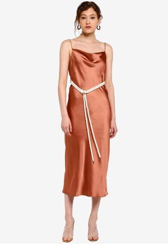 b4767248fc635 Rope Belt Midi Slip Dress