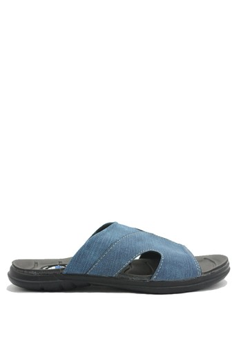 Dr. Kevin black and blue Dr. Kevin Men Casual Sandal 17209 - Blue DR982SH0U50IID_1