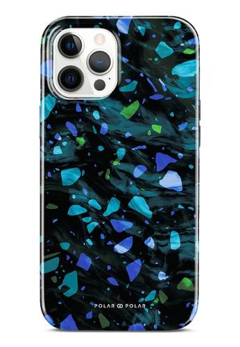 Polar Polar blue Ocean Terrazzo Gem Dual-Layer Tough Case Glossy For iPhone 12 Pro Max F6832AC2D7A089GS_1