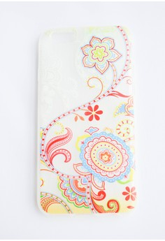 Flowers and Paisley Soft Semi Transparent Case for iPhone 6/6s