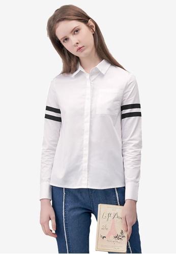 Kodz white Contrast Button Down Shirt 523F7AAA37FE95GS_1