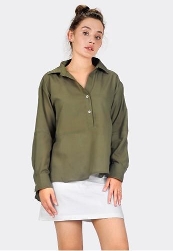 SJO & SIMPAPLY green SJO Elma Green Blouse 0C582AAC44F696GS_1