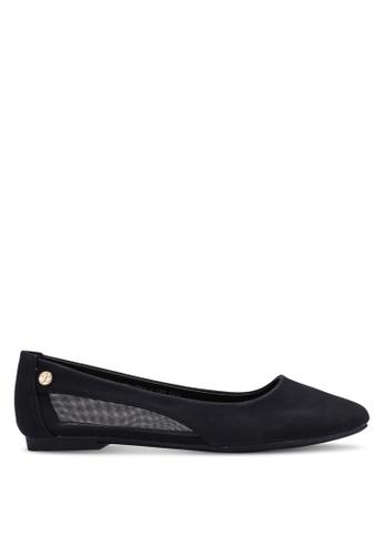 Bata 黑色 質感平底鞋 27229SHF8DF7B6GS_1