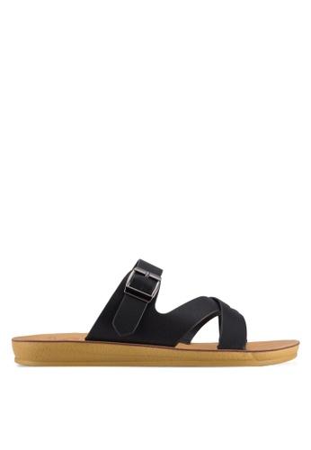 Noveni black Strappy Sandals NO978SH63VUAMY_1