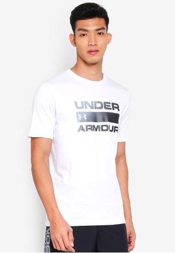 Under Armour white UA Team Issue Wordmark Short Sleeve Tee 040F1AAE0A5D08GS_1