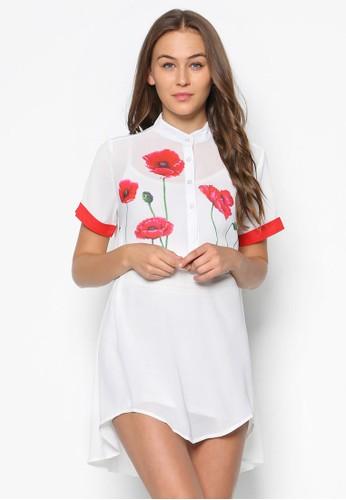 康乃馨短袖襯衫連身裙esprit tw, 韓系時尚, 梳妝