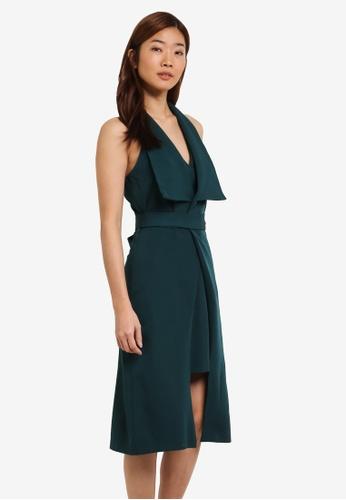 ZALORA green Double Layered Insert Dress 7C429AA4C739EBGS_1