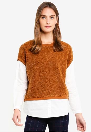 ESPRIT brown Long Sleeve Sweatshirt BF1DBAA5E1405FGS_1