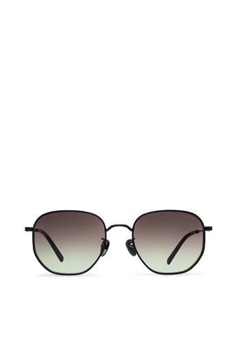 agnès b. brown agnès b. Metal Sunglasses AB10023 Audrey E5ABAGL2C6F328GS_1