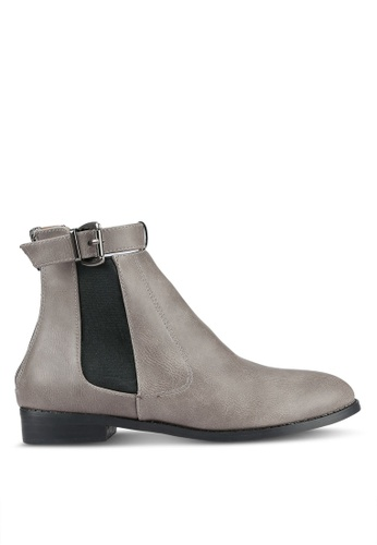 addicts anonymous grey Raine Buckle Chelsea Boots AD479SH0RL6AMY_1