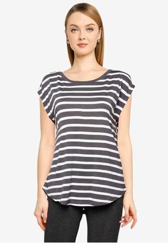 GAP black Stripe Tee 2DE3EAAF0C282AGS_1