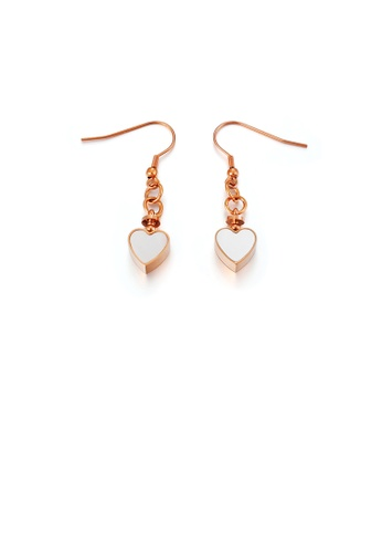 Glamorousky silver Fashion Simple Plated Rose Gold Heart-shaped 316L Stainless Steel Earrings 1756FAC347574FGS_1