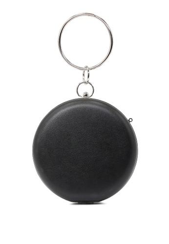 London Rag black Black Hoop Handle Clutch 8A658AC228369EGS_1