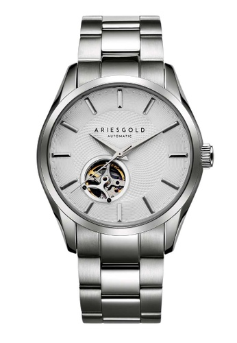 Aries Gold white Aries Gold Inspira Silver Stainless Steel Watch 28B3CAC43B2BD5GS_1