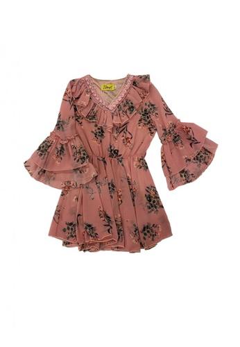 KAMDAR pink Madeline Kids Blouse 0D97AKAD45E1B8GS_1