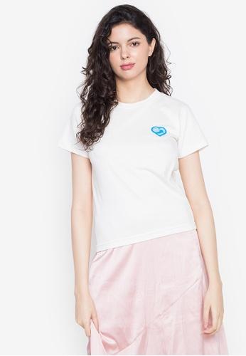Artwork white No Time T-Shirt 94647AAD8C1EBAGS_1