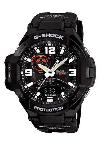 CASIO black Casio G-Shock Gravitymaster Black Resin Watch 04079ACDFB627DGS_1