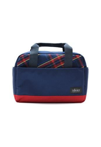 ideer red and blue Harvey Blueberry 3 Way Tartan Camera Messenger Cross Bag ID960AC04OHNHK_1